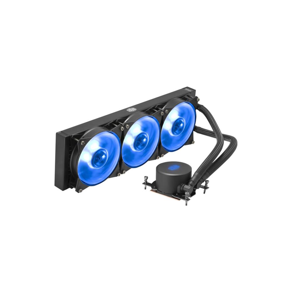 A large main feature product image of Cooler Master MasterLiquid ML360 RGB TR4 Edition AIO Liquid CPU Cooler