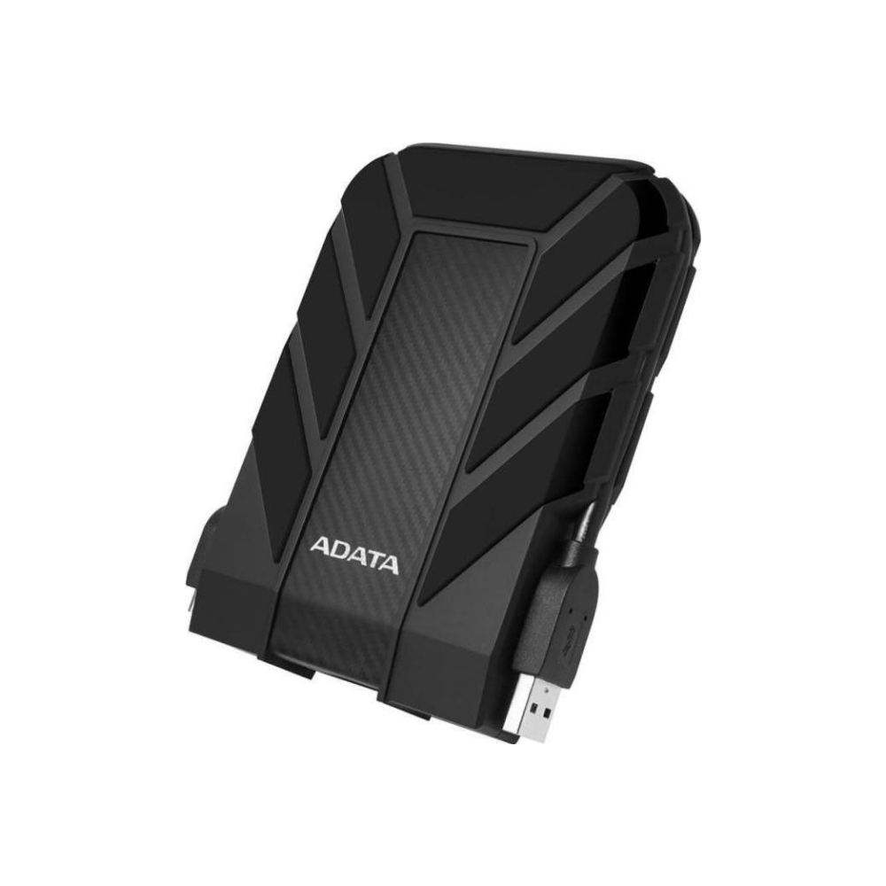 A large main feature product image of ADATA Armoured HD710 1TB USB3.0 Black Portable HDD