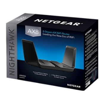 Product image of Netgear Nighthawk AX8 AX6000 8-Stream Wireless Router - Click for product page of Netgear Nighthawk AX8 AX6000 8-Stream Wireless Router