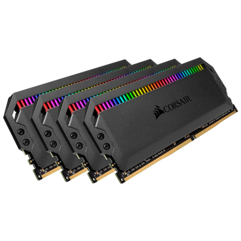 Product image of Corsair 64GB Kit (4x16GB) DDR4 Dominator Platinum RGB C15 3000Mhz - Click for product page of Corsair 64GB Kit (4x16GB) DDR4 Dominator Platinum RGB C15 3000Mhz