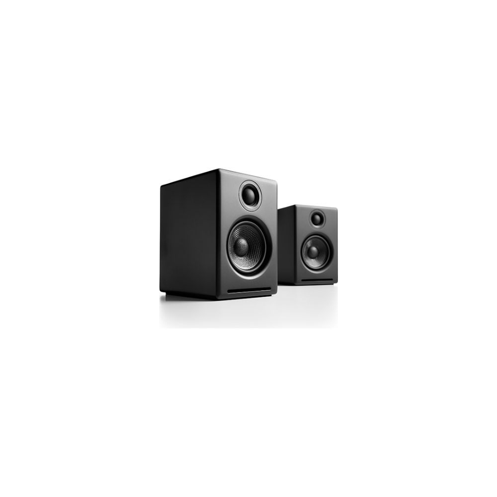 A large main feature product image of Audioengine A2+ Powered Wireless Desktop Speakers - Satin Black