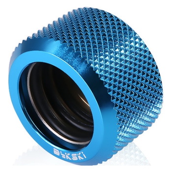 Product image of Bykski G1/4 16mm Hard Tube Compression Fitting - Blue - Click for product page of Bykski G1/4 16mm Hard Tube Compression Fitting - Blue