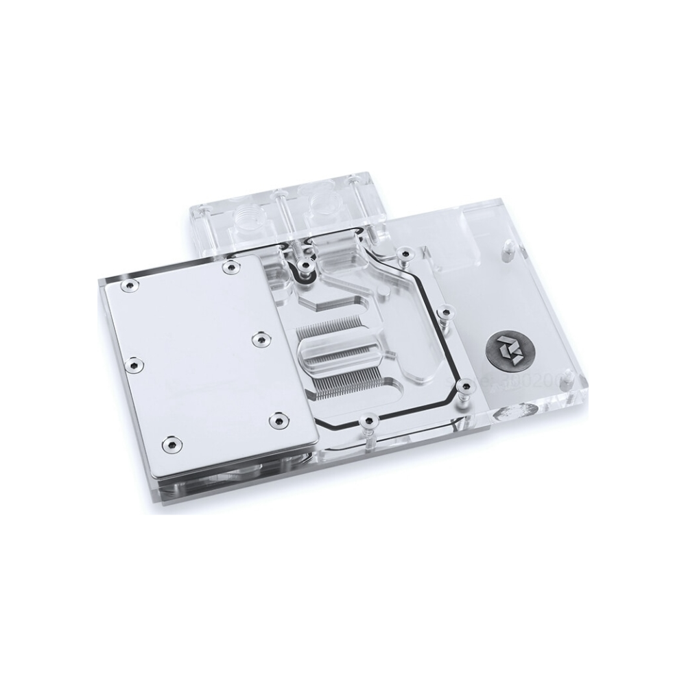 A large main feature product image of Bykski RX580-X Full Cover RBW GPU Waterblock
