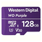 A small tile product image of WD Purple 128GB Surveillance microSD Card