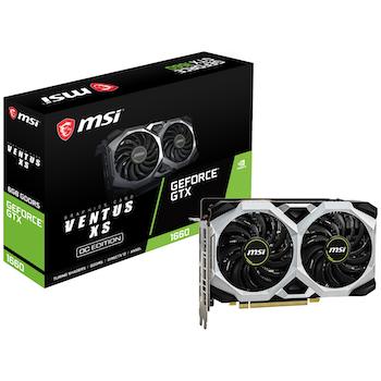 Product image of MSI GeForce GTX1660 Ventus XS OC 6GB GDDR5  - Click for product page of MSI GeForce GTX1660 Ventus XS OC 6GB GDDR5