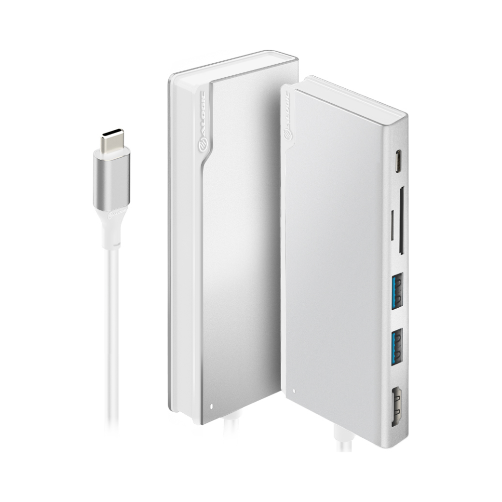 A large main feature product image of ALOGIC Ultra USB-C Universal Dock w/Power Delivery - Silver
