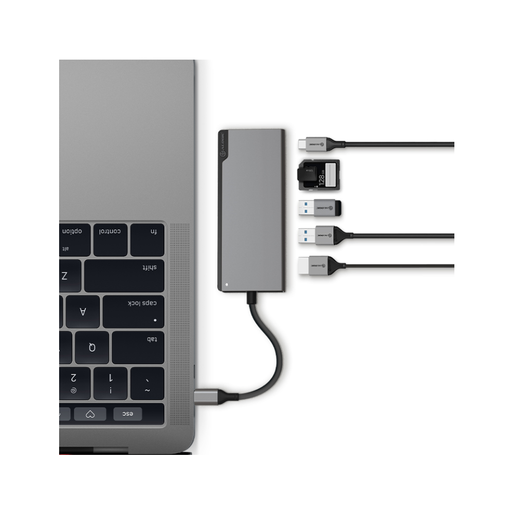 A large main feature product image of ALOGIC Ultra USB-C Universal Dock w/ Power Delivery - Space Grey