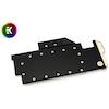 A product image of EK Vector RTX Titan Acetal/Gold GPU Waterblock