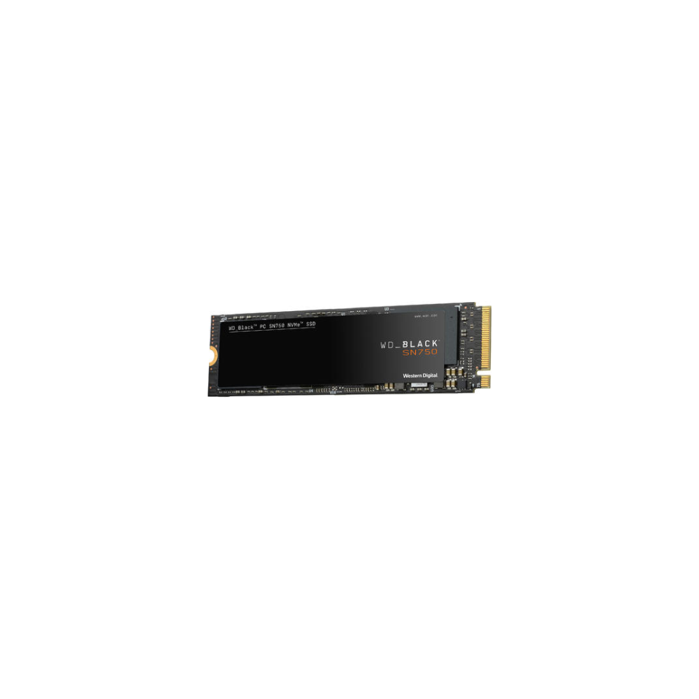 A large main feature product image of WD Black SN750 2TB 3D NAND NVMe M.2 SSD