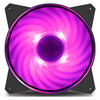 A product image of Cooler Master MasterFan MF120R 120mm RGB Fan