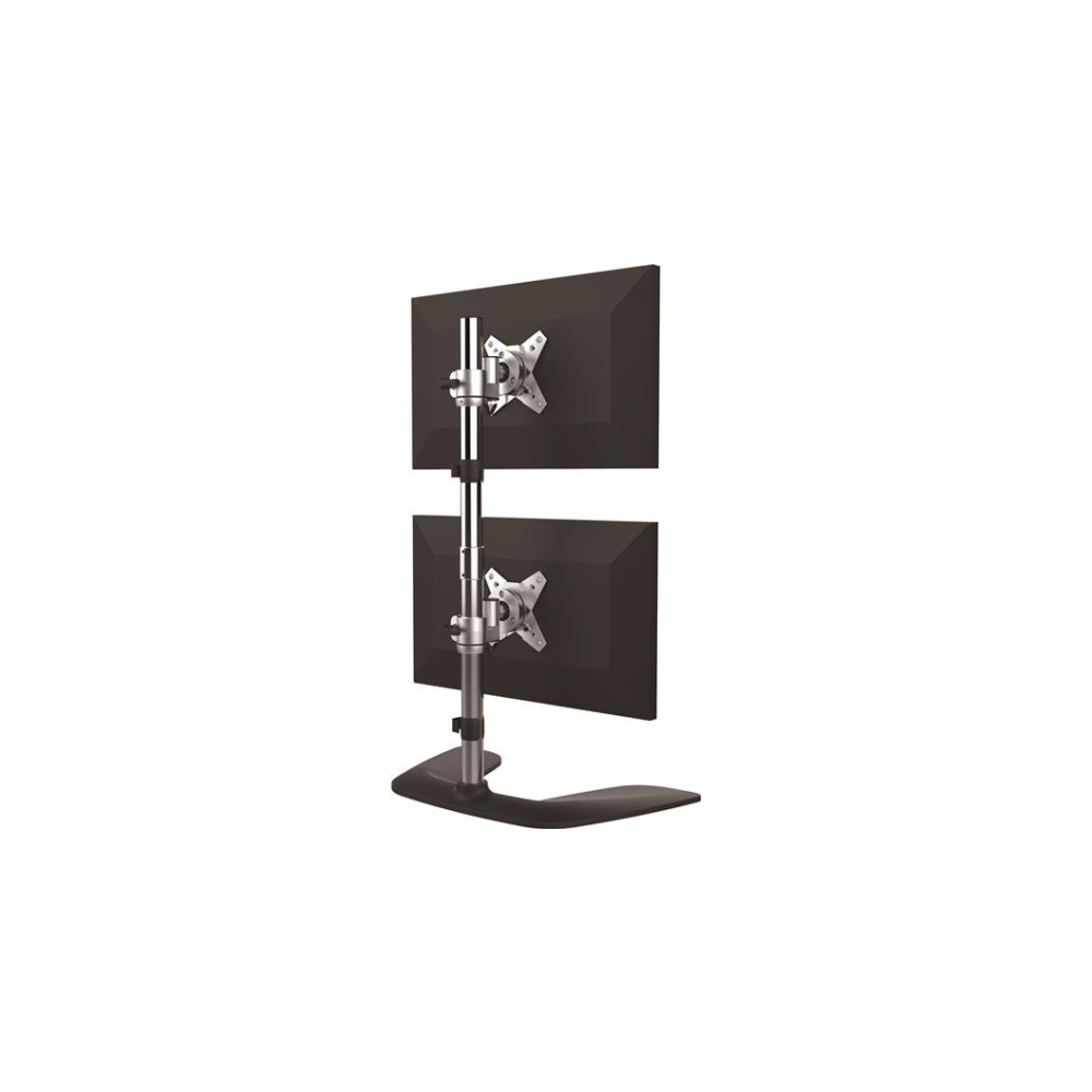 "A large main feature product image of Startech Vertical Dual Monitor Stand - For up to 27"" Monitors"