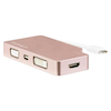 A product image of Startech USB-C Multiport Adapter - 4-in-1 - Rose Gold - 4K