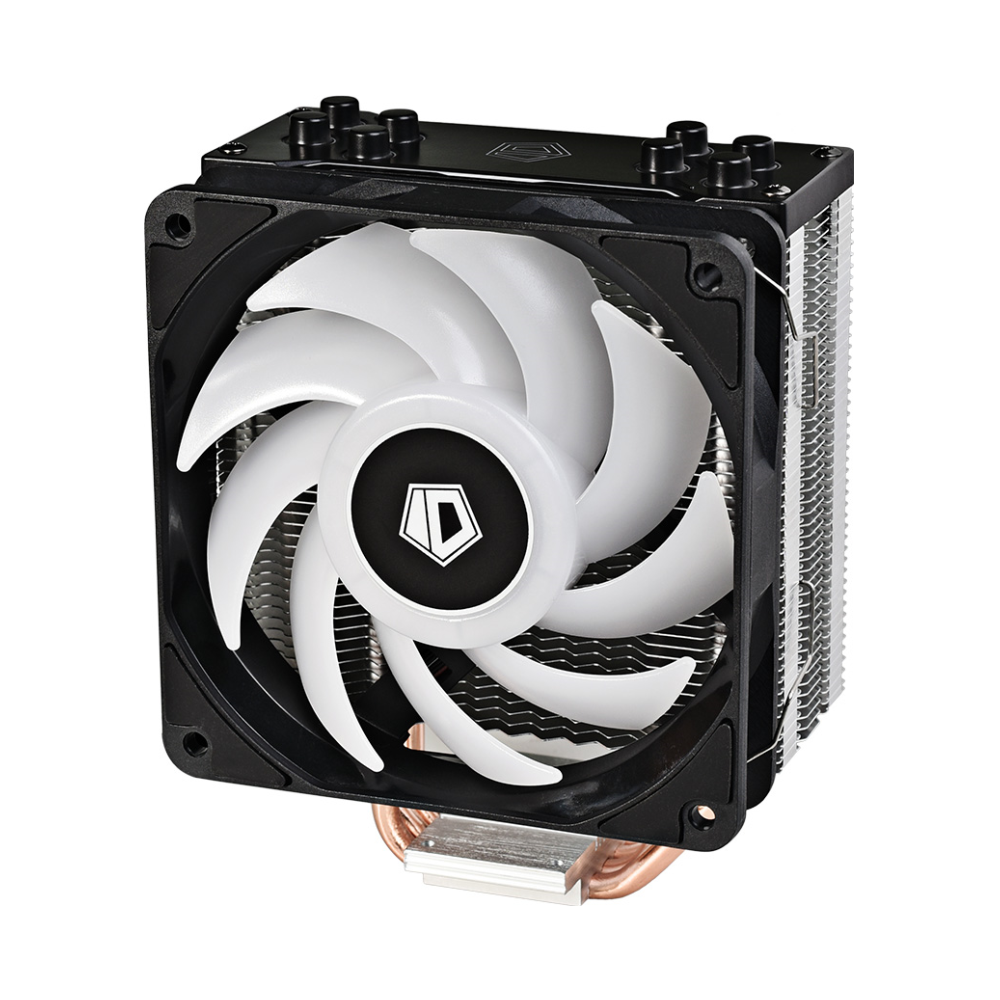 A large main feature product image of ID-COOLING Sweden Series SE-224-RGB CPU Cooler