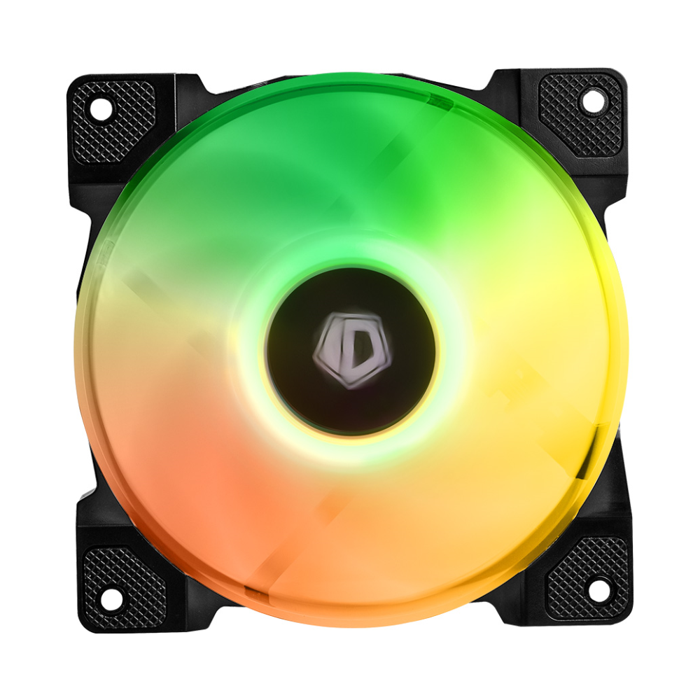 A large main feature product image of ID-COOLING DF Series 120mm Addressable RGB LED Fan