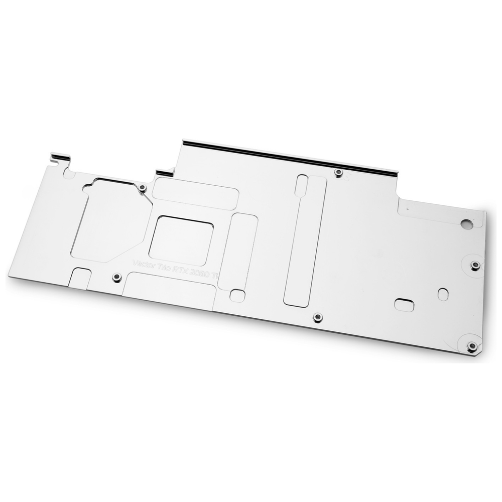 A large main feature product image of EK Vector Trio RTX 2080Ti Backplate - Nickel