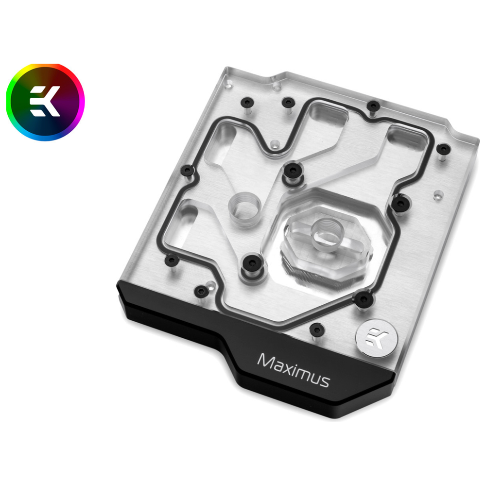 A large main feature product image of EK Momentum ASUS ROG Maximus XI Extreme D-RGB Monoblock - Nickel