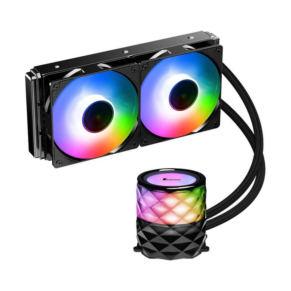 A large main feature product image of Jonsbo TW3 240mm RGB LED AIO CPU Liquid Cooler