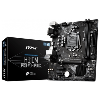 Product image of MSI H310M PRO-VDH PLUS LGA1151-CL mATX Desktop Motherboard - Click for product page of MSI H310M PRO-VDH PLUS LGA1151-CL mATX Desktop Motherboard