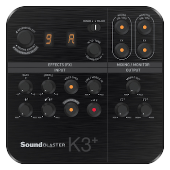 Product image of Creative SoundBlaster K3+ XLR Audio Mixer - Click for product page of Creative SoundBlaster K3+ XLR Audio Mixer