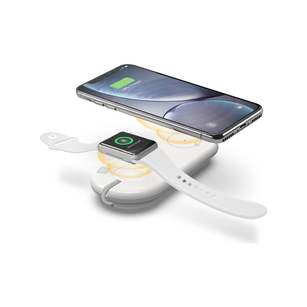 A large main feature product image of ALOGIC Wireless Duet Charging Station - White