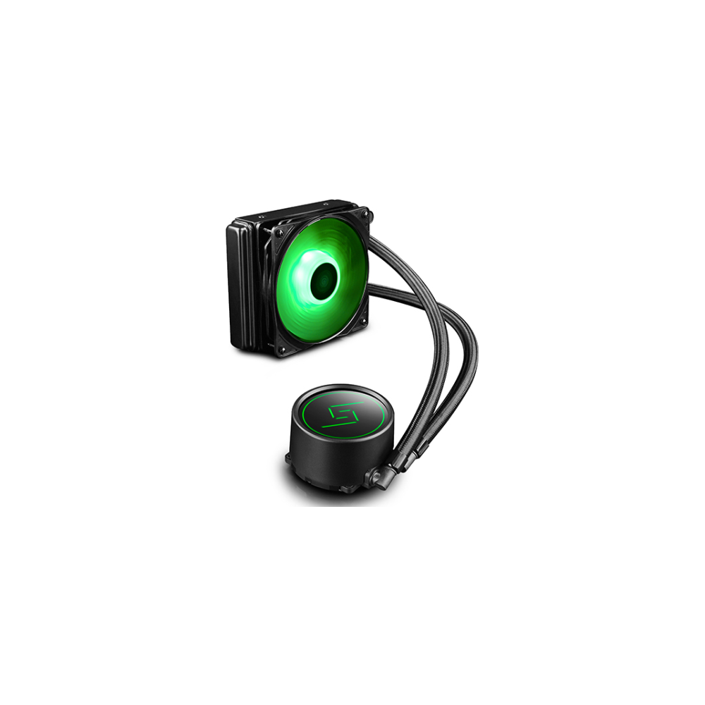 A large main feature product image of Deepcool Gammaxx L120 RGB LED AIO Liquid Cooler