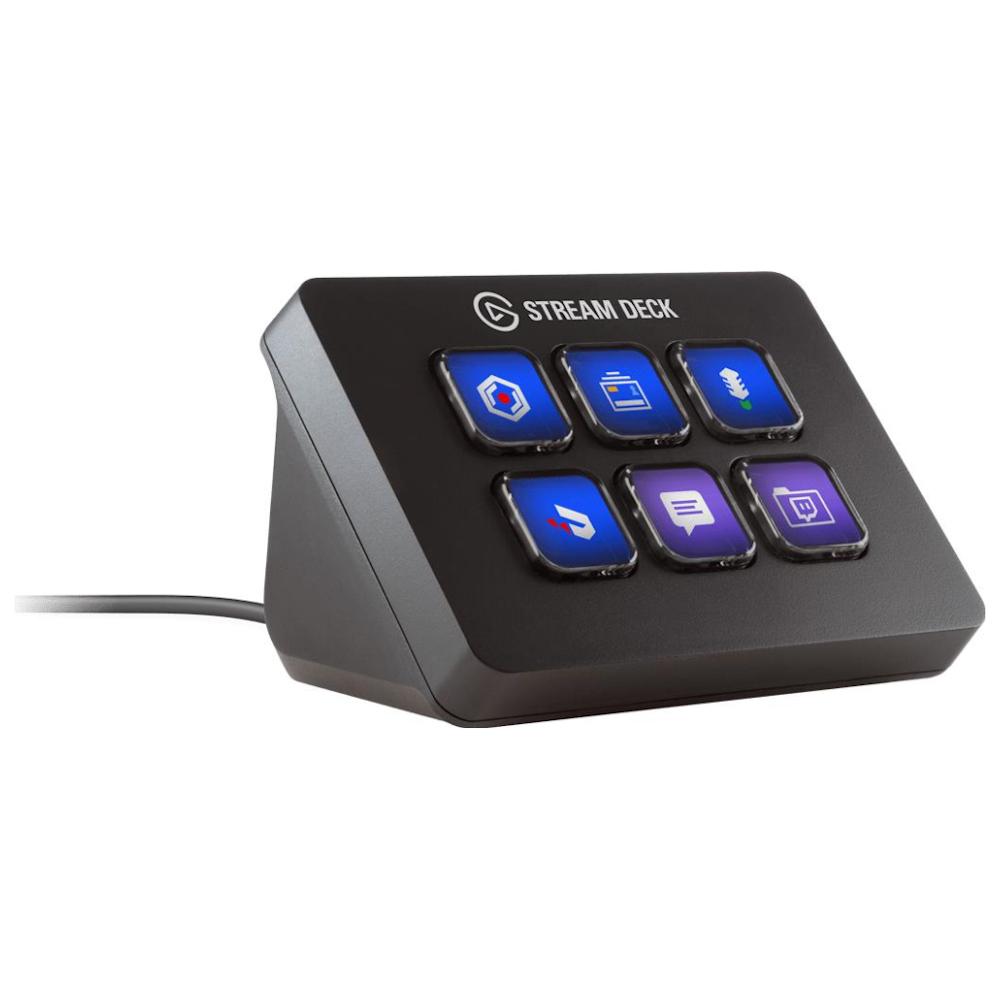 A large main feature product image of Elgato Stream Deck Mini