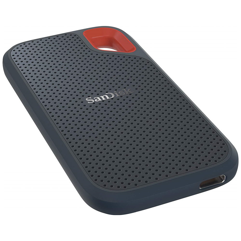 A large main feature product image of SanDisk Extreme Portable 500GB SSD USB3.1 and Type-C