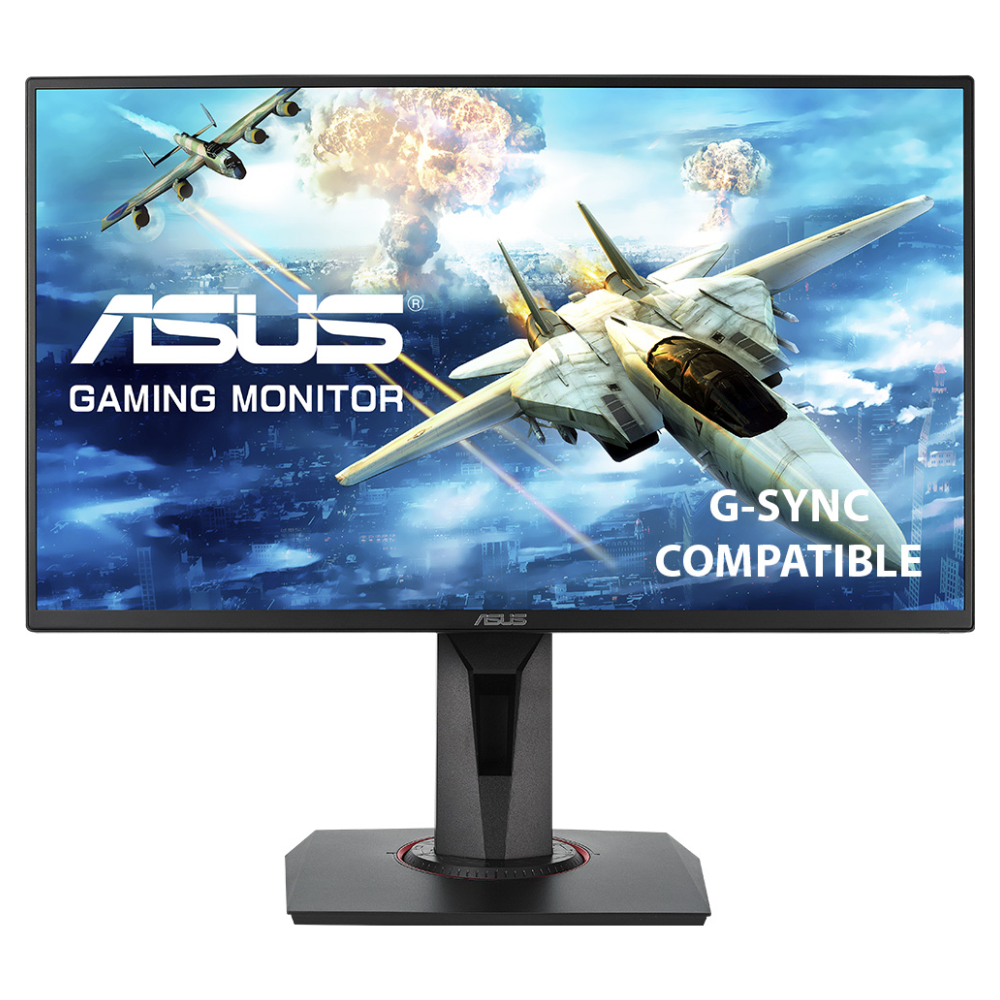 """A large main feature product image of ASUS VG258QR 24.5"""" Full HD G-SYNC-C 165Hz 0.5MS LED Gaming Monitor"""