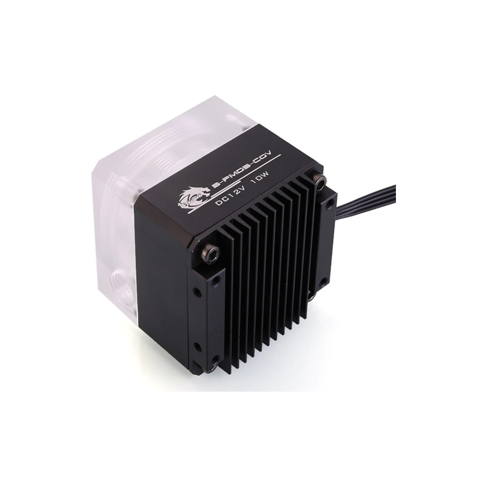 A large main feature product image of Bykski DDC Pump Head - Black