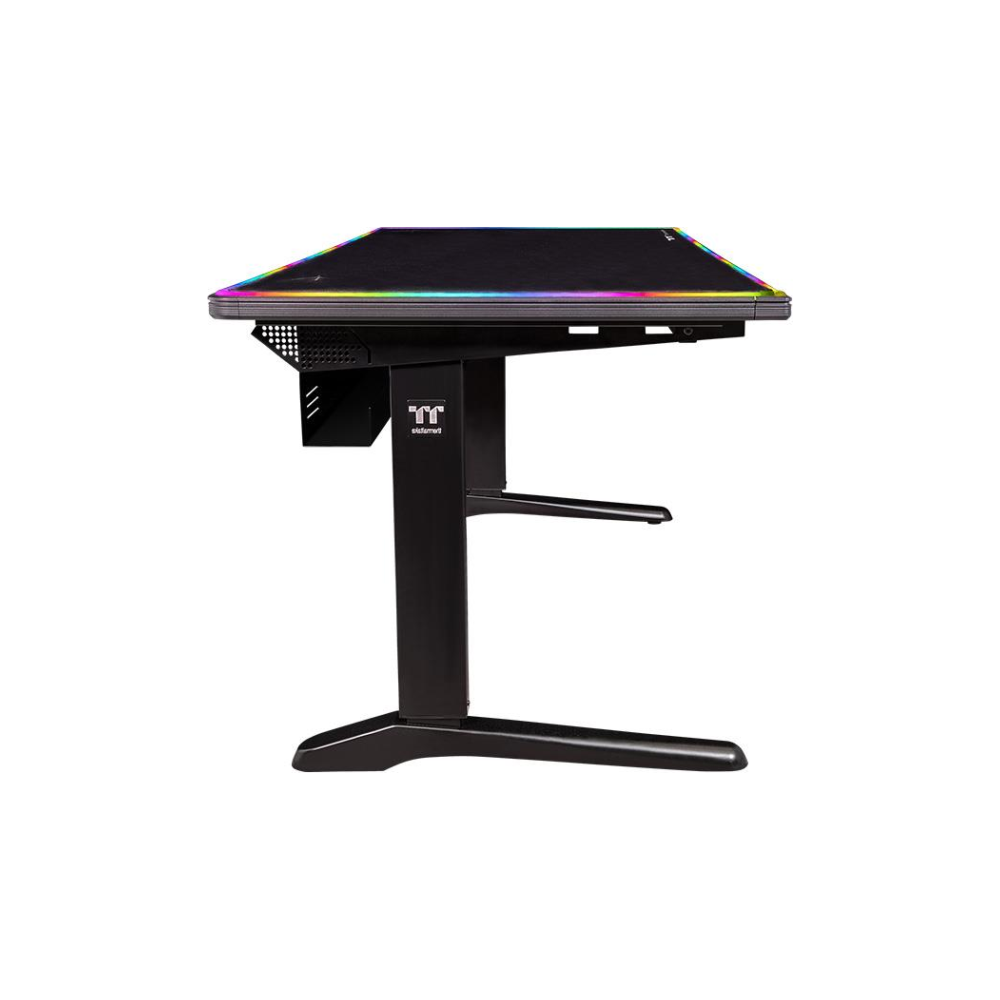 A large main feature product image of Thermaltake Level 20 BattleStation RGB Gaming Desk
