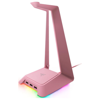 Product image of Razer Chroma Headset Stand & Base Station Quartz Pink - Click for product page of Razer Chroma Headset Stand & Base Station Quartz Pink