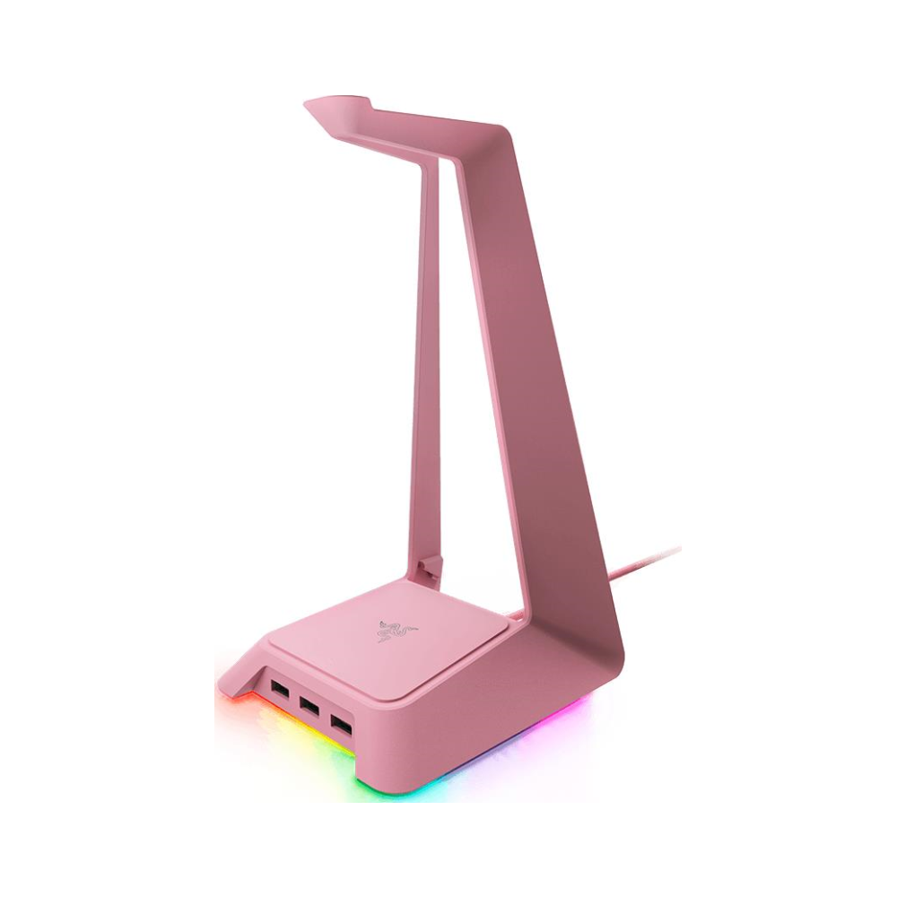 A large main feature product image of Razer Chroma Headset Stand & Base Station Quartz Pink