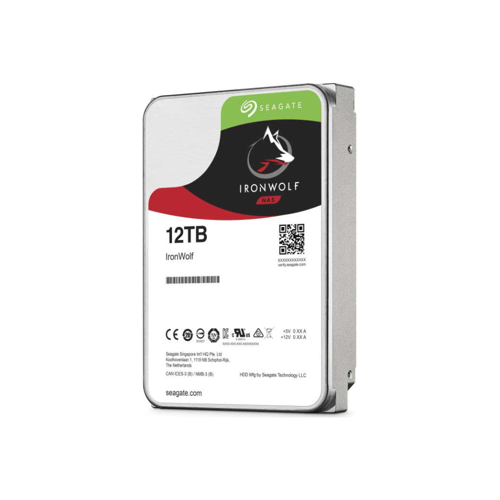 "A large main feature product image of Seagate IronWolf ST12000VN0008 3.5"" 12TB NAS HDD"