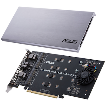 Product image of ASUS HYPER M.2 x16 V2 PCIe M.2 Expansion Card - Click for product page of ASUS HYPER M.2 x16 V2 PCIe M.2 Expansion Card