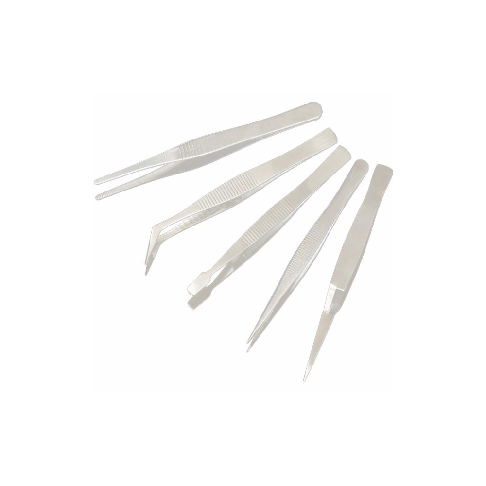 A large main feature product image of King'sdun 5 in 1 Precision Tweezer Set