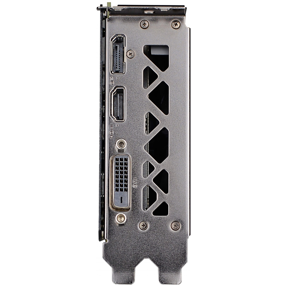 A large main feature product image of eVGA GeForce GTX1660 SC Ultra 6GB GDDR5