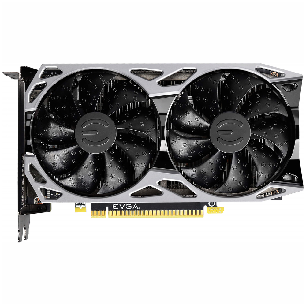 A large main feature product image of eVGA GeForce GTX1660Ti SC Ultra 6GB GDDR6