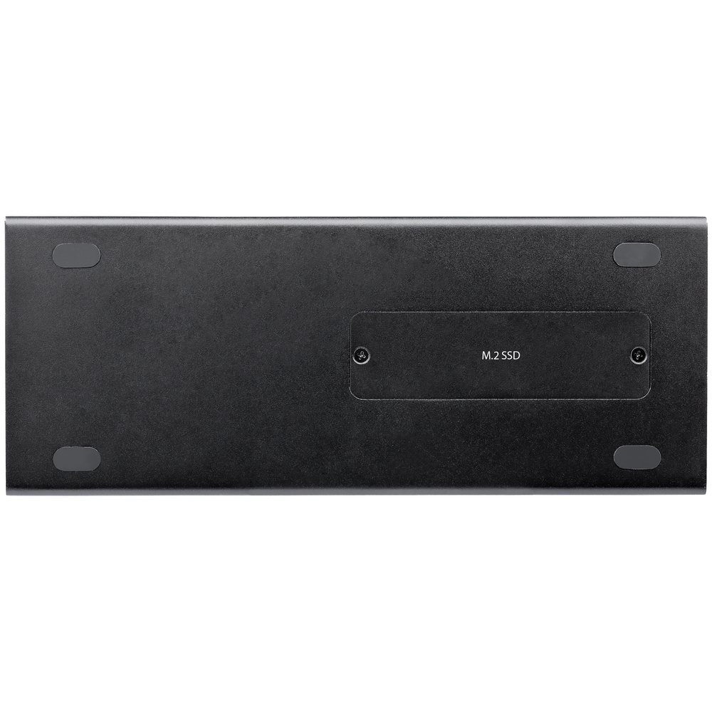 A large main feature product image of Startech Dual 4K 60Hz Monitor Thunderbolt 3 Dock- PCIe M.2 Slot and SD Reader