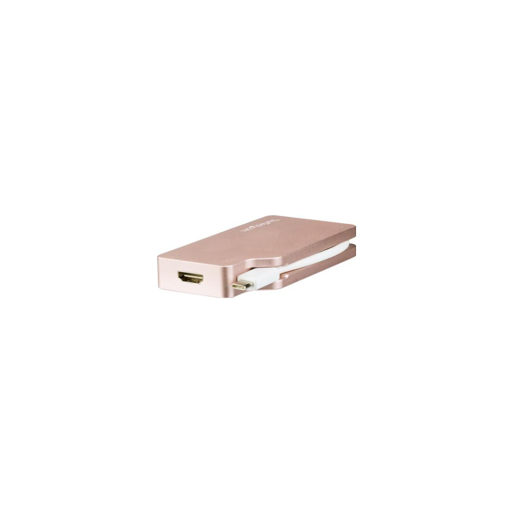 A large main feature product image of Startech USB-C Multiport Adapter - 4-in-1 - Rose Gold - 4K