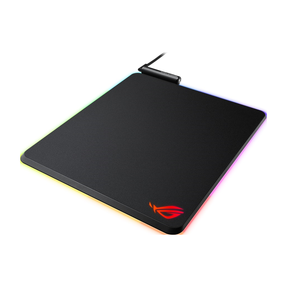 A large main feature product image of ASUS ROG Balteus RGB Mouse Pad