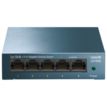 Product image of TP-LINK LiteWave LS105G 5-Port Gigabit Switch - Click for product page of TP-LINK LiteWave LS105G 5-Port Gigabit Switch