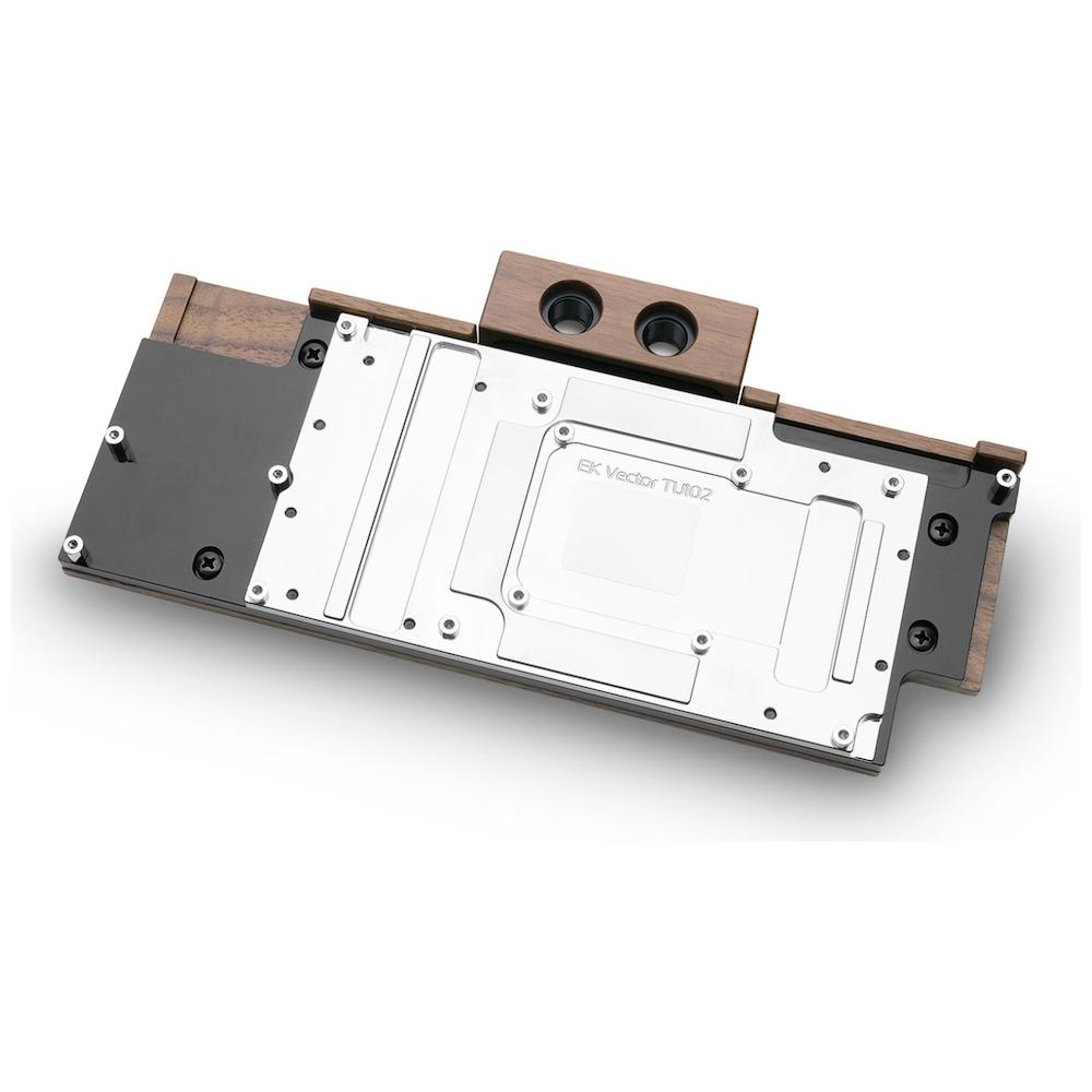 A large main feature product image of EK FC RTX 2080 Ti Lignum - Walnut