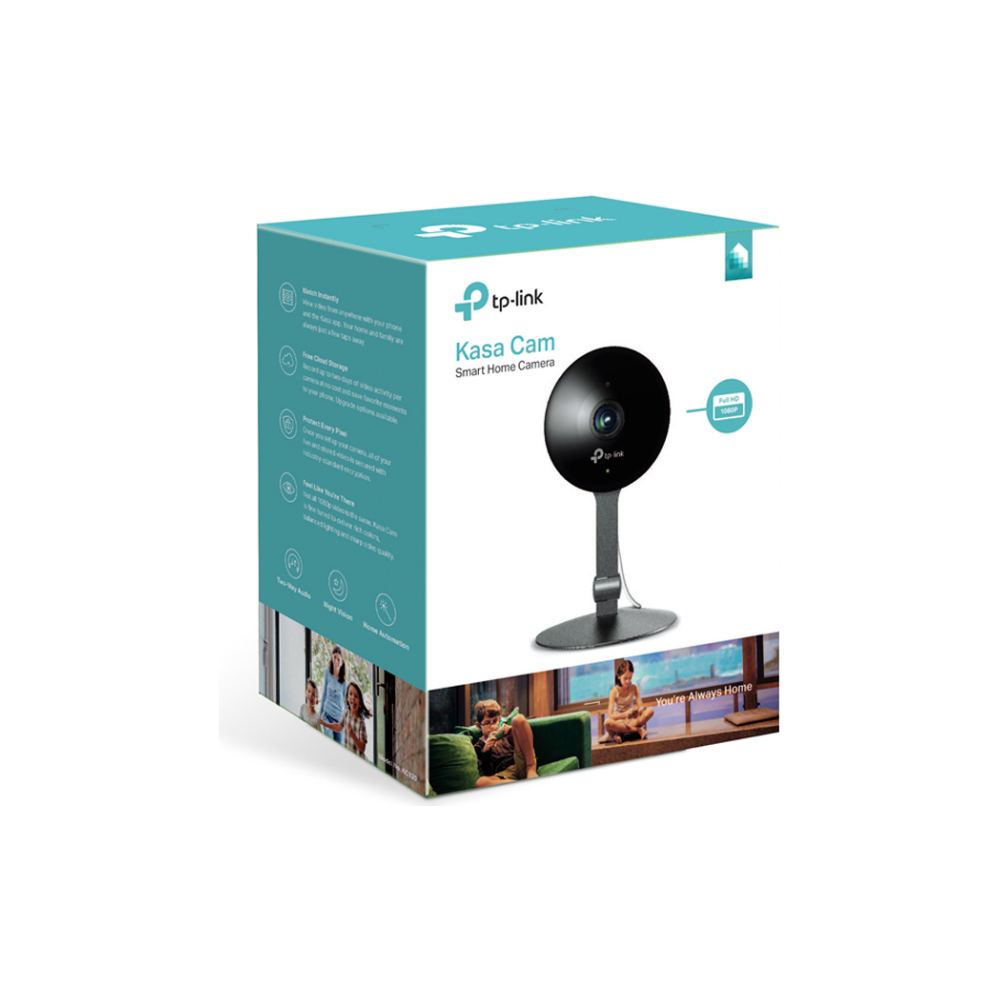 A large main feature product image of TP-LINK KC120 Kasa Surveillance Camera