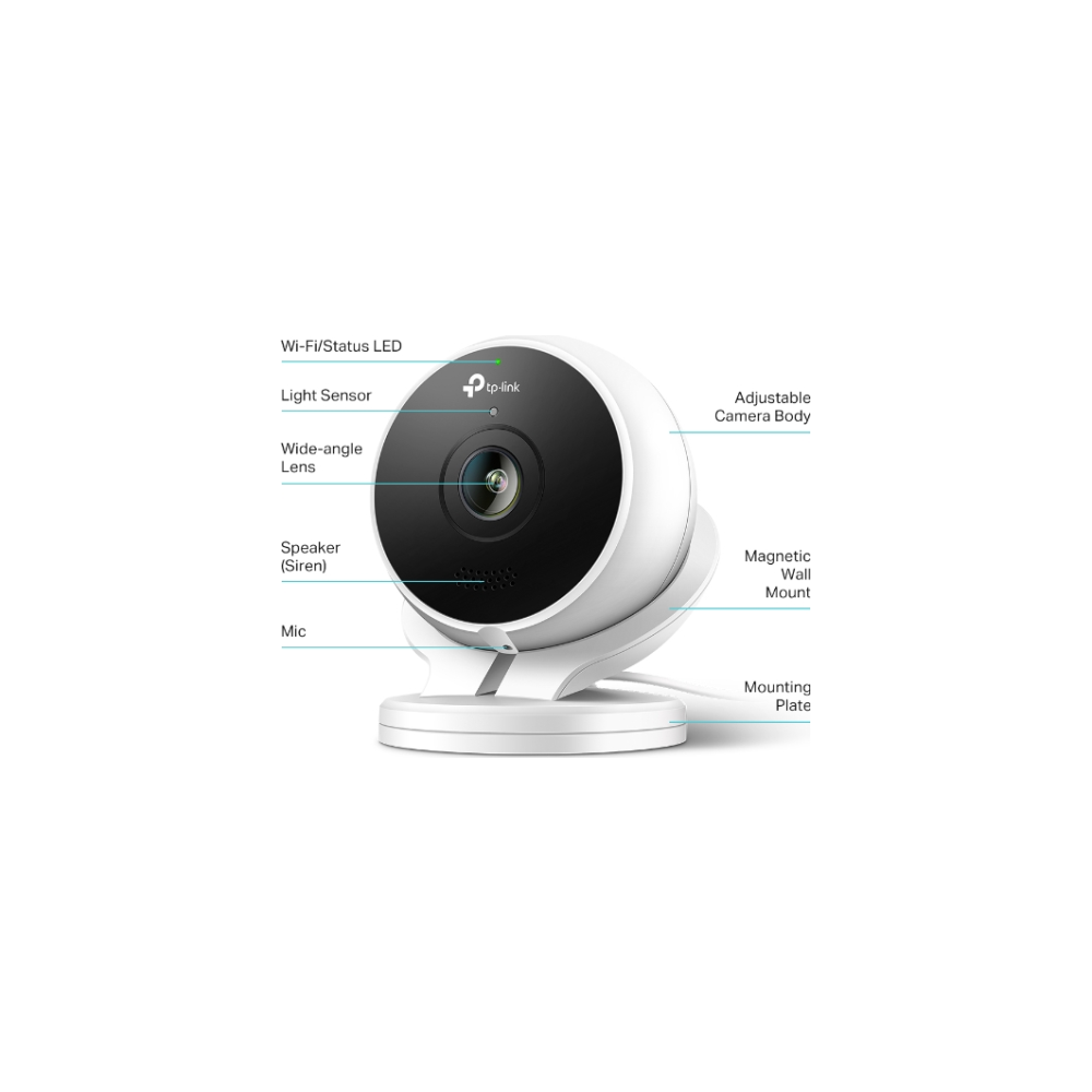 A large main feature product image of TP-LINK KC200 Kasa Outdoor Surveillance Camera