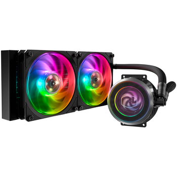 Product image of Cooler Master MasterLiquid ML240P Mirage Addressable RGB AIO Liquid Cooler - Click for product page of Cooler Master MasterLiquid ML240P Mirage Addressable RGB AIO Liquid Cooler