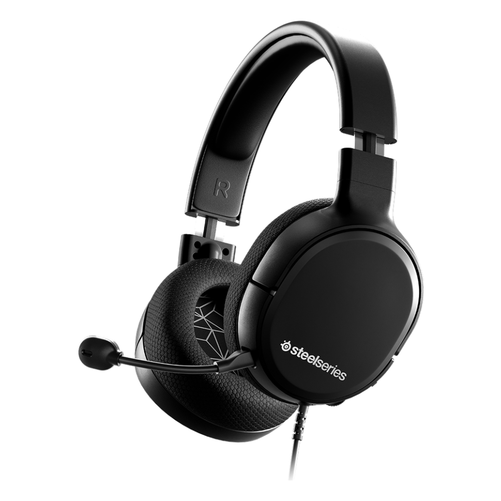 A large main feature product image of Steelseries Arctis 1 All-Platform Wired Gaming Headset