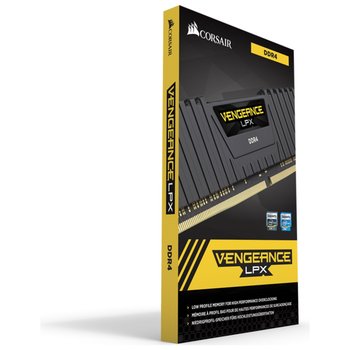 Product image of Corsair 16GB Kit (2x8GB) DDR4 Vengeance LPX Black C16 2666Mhz - Click for product page of Corsair 16GB Kit (2x8GB) DDR4 Vengeance LPX Black C16 2666Mhz