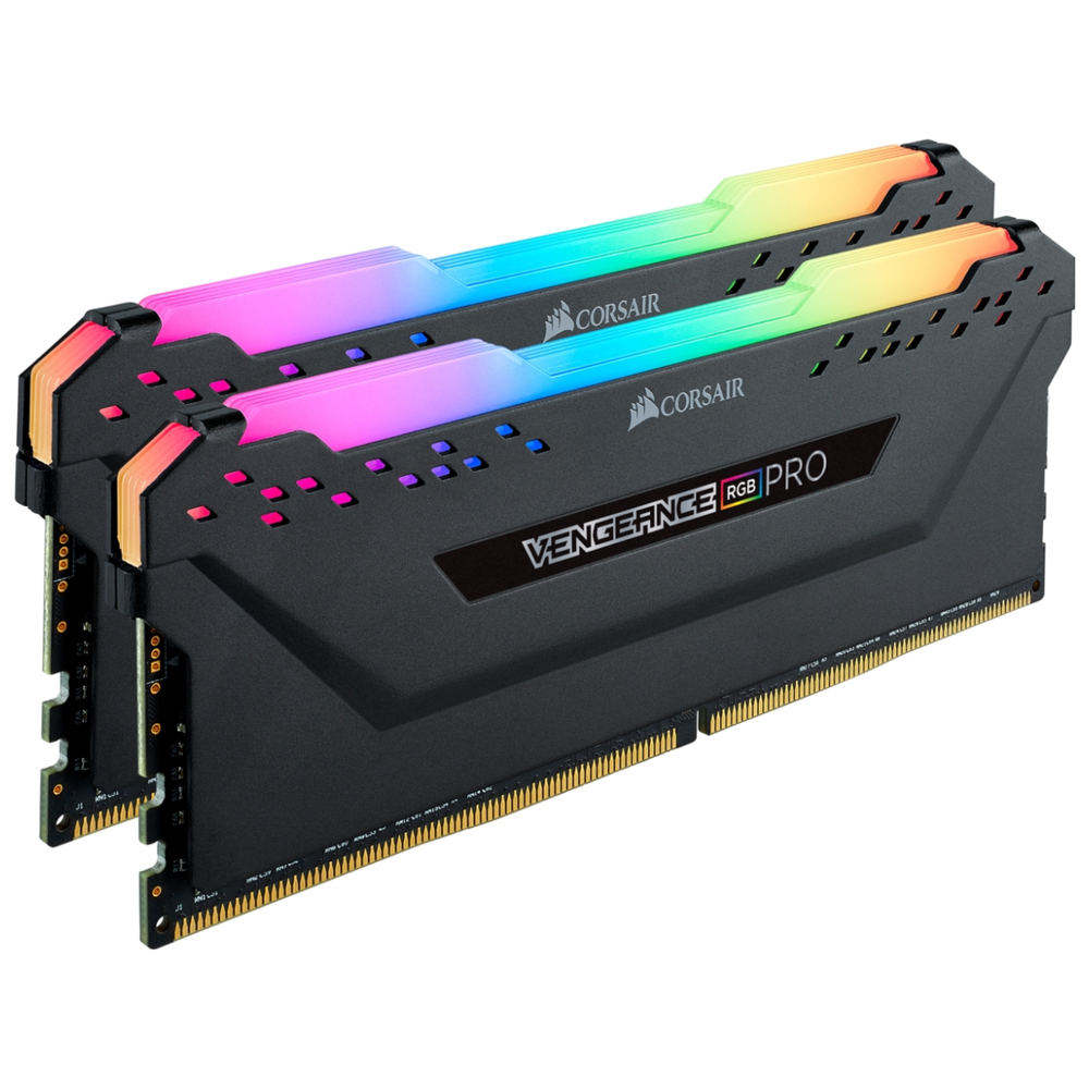 A large main feature product image of Corsair 16GB Kit (2x8GB) DDR4 Vengeance RGB PRO C16 3200Mhz