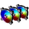 A product image of Lian-Li Bora Digital RGB 120mm PWM Fans - 3 Pack Black with remote control