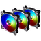 A small tile product image of Lian-Li Bora Digital RGB 120mm PWM Fans - 3 Pack Black with remote control